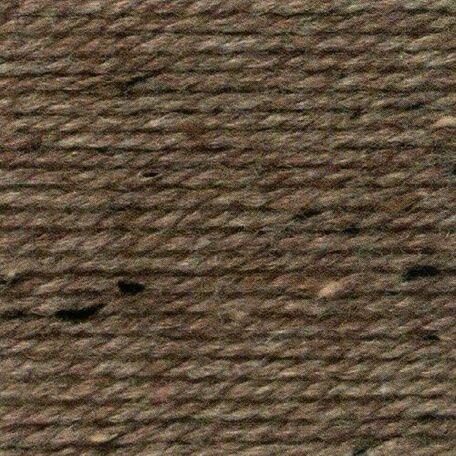 Rustic Aran Tweed Yarn - Brown (400g)