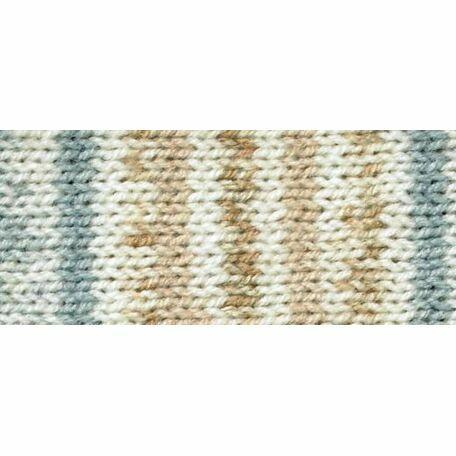 Magi-Knit Yarn - Fair Isle brown, blue, white (100g)