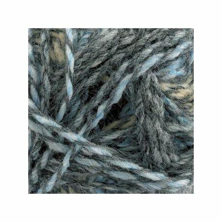 Marble DK Yarn - Light Blues & Fawn (100g)