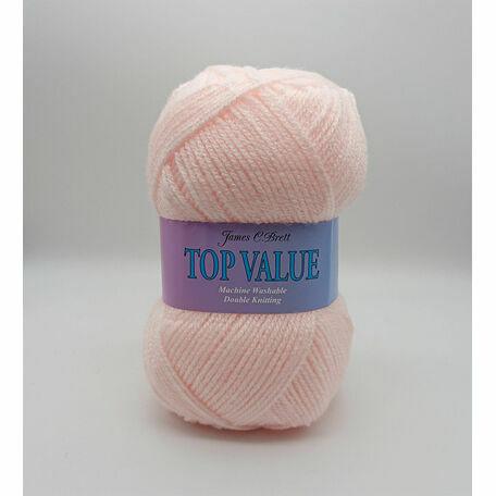 Top Value Yarn - Light Pink - 848 (100g)