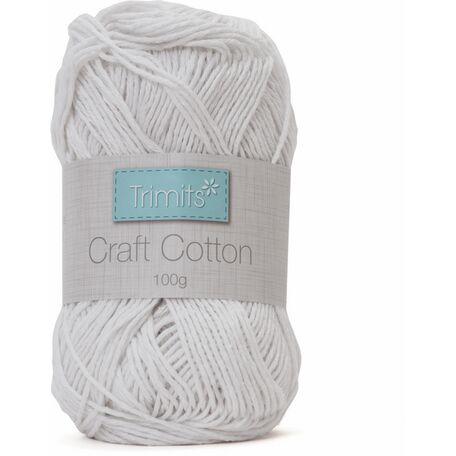 Trimits Craft Cotton - White (100g)