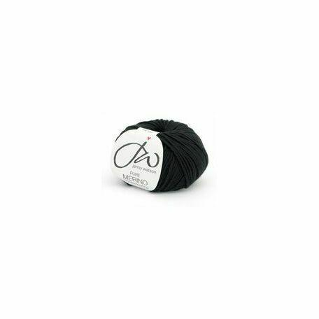 Jenny Watson Pure Merino Yarn - Ebony (50g)