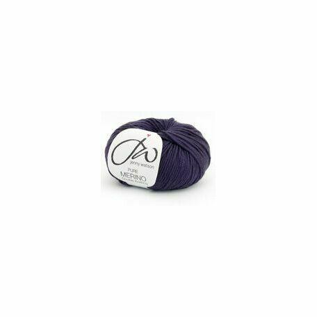 Jenny Watson Pure Merino Yarn - Aubergine (50g)