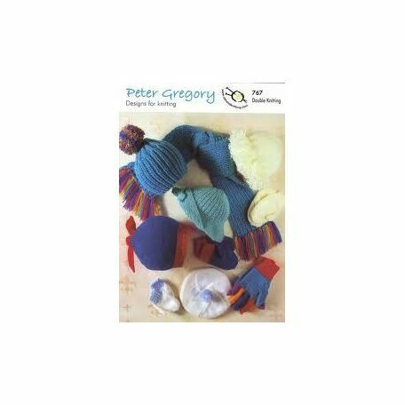 UKHKA Peter Gregory n.767 Knitting Pattern - Children's Accessories