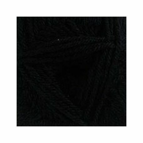 DK with Merino Yarn - Black - DM2 (100g)