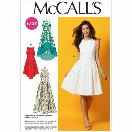 McCalls Pattern M6953 Misses' Pleated-Skirt Dresses