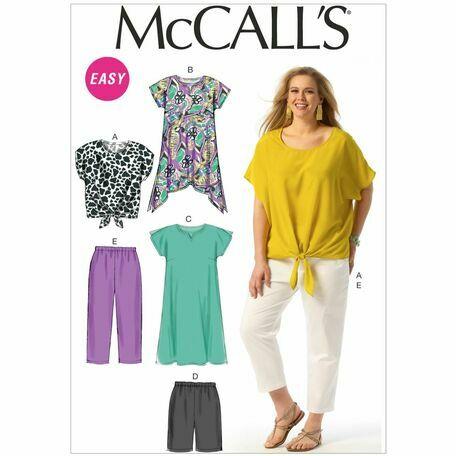 McCalls Pattern M6971 Women's Dolman Top, Tunic, Dress, Shorts and Pants