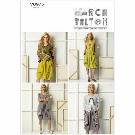 Vogue pattern V8975 Misses' Draped-Pocket Dresses and Jacket