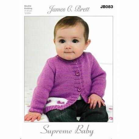 James C Brett DK Knitting Pattern JB083 (Baby Cardigan)