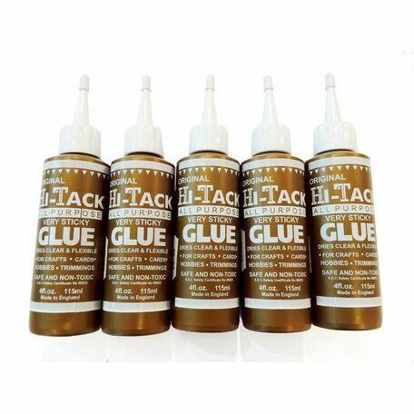 Trimits Original Gold Hi-Tack Glue - 115ml (5 Pack)