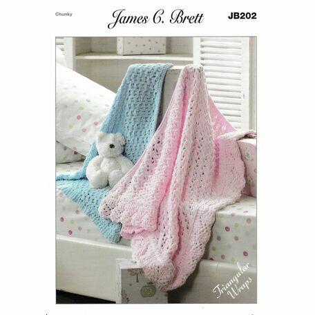 James C. Brett Pattern JB202 Chunky Baby Blanket
