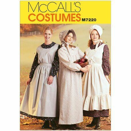 McCalls Pattern M7220 Misses' Pioneer Costumes