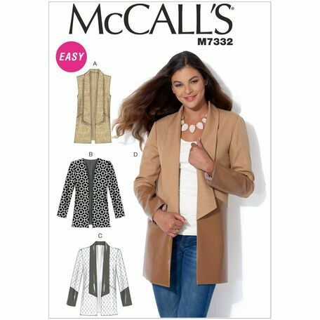 McCall's Sewing Pattern M7332 (Misses Vest & Jackets)