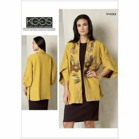 Vogue Koos Couture Sewing Pattern V1493 (Misses Jacket) from £16.00