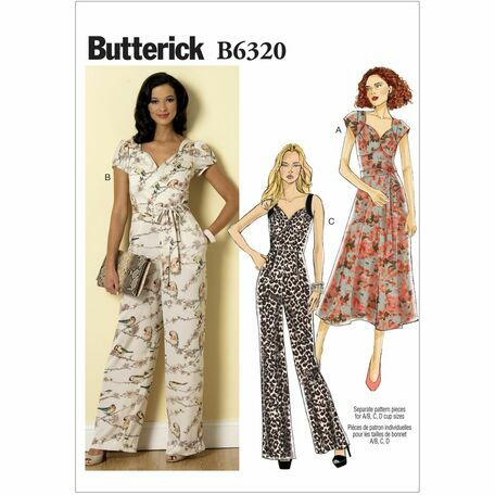 Butterick Sewing Pattern B6320 (Misses Dress/Jumpsuit)