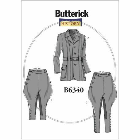 Butterick Making History Sewing Pattern B6340 (Mens Jacket/Breeches ...