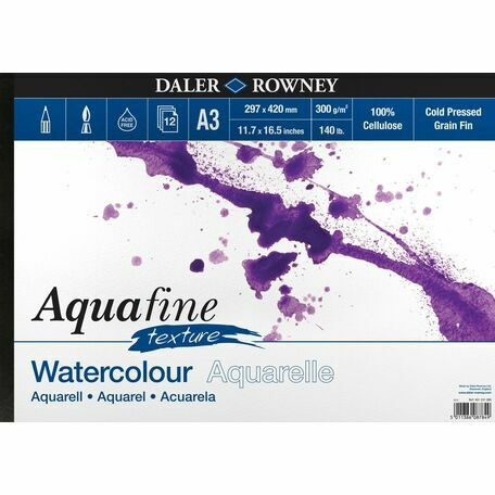 Aquafine Texture A3 Watercolour Pad (Pack of 2)