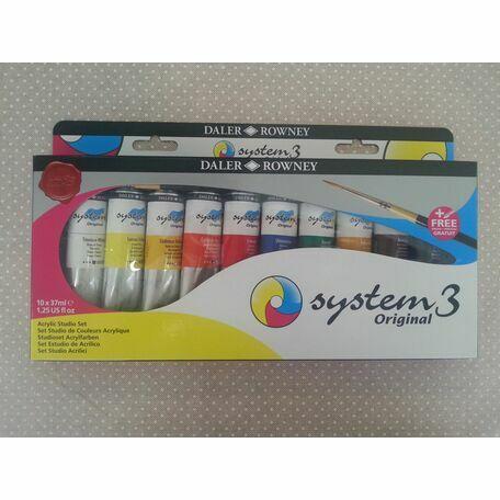 Daler Rowney System 3 Acrylic Studio Set (10 x 37ml)