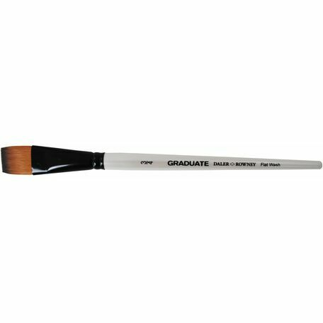 Graduate Synthetic Flat Wash Brush (Size 0.75in)