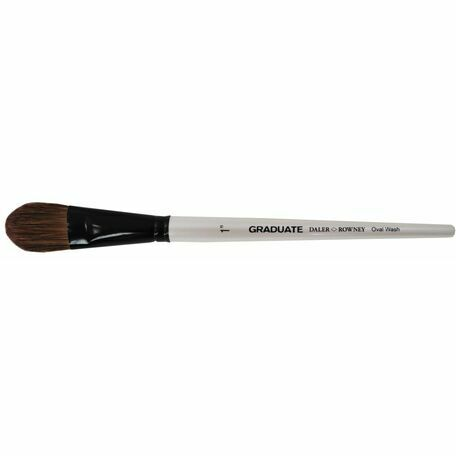 Graduate Pony & Synthetic Oval Wash Brush (Size 1in)