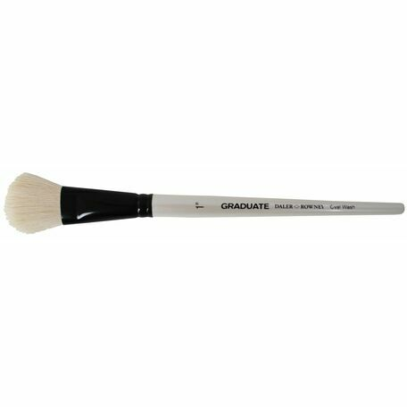 Graduate White Goat Oval Wash Brush (Size 1in)