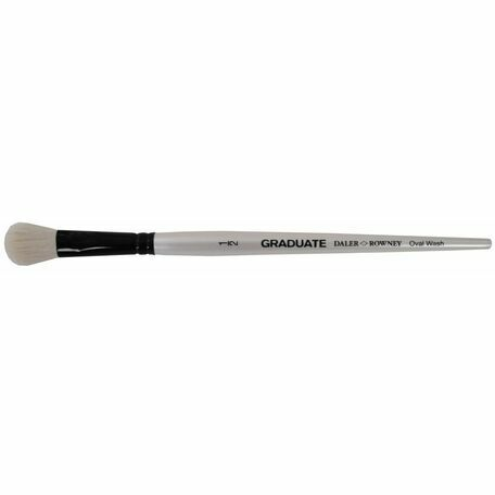 Graduate White Goat Oval Wash Brush (Size 0.5in)