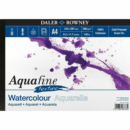 2 x Aquafine Texture Watercolour Pad (A4)