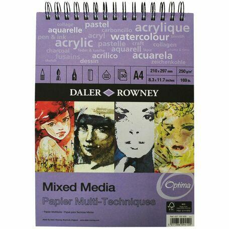 Daler Rowney Mixed Media A4 Spiral Pad