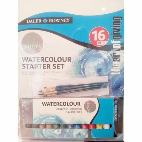 Daler Rowney Simply Watercolour Starter Set (16pcs)