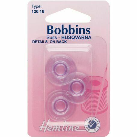 Hemline Plastic Bobbins - Husqvarna (Type 120.16)