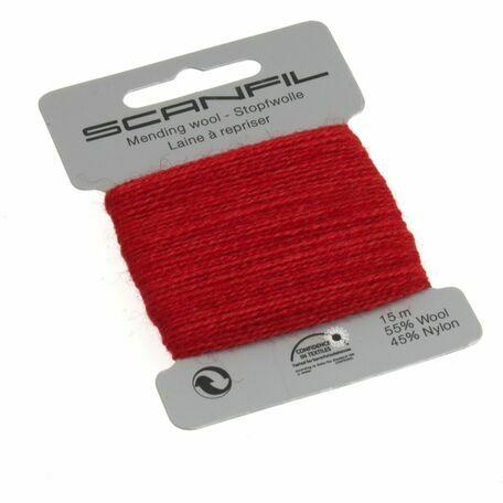 Scanfil Mending Wool - Red (15m)
