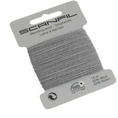 Scanfil Mending Wool - School Grey (15m)