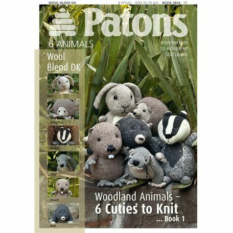 Patons Pattern Book: Wool Blend DK: Cute Animals: Book 3824