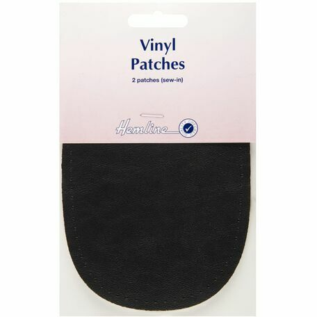 Hemline Sew-In Vinyl Patches - Black