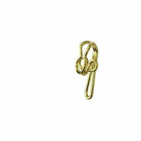 Pack of 30 Rufflette Brass R7 Curtain Hooks