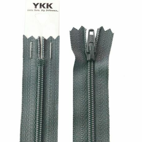 YKK Nylon Dress & Skirt Zip - Dark Grey (41cm)