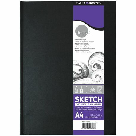 Daler Rowney Simply Sketch A4 Hardback Sketchbook