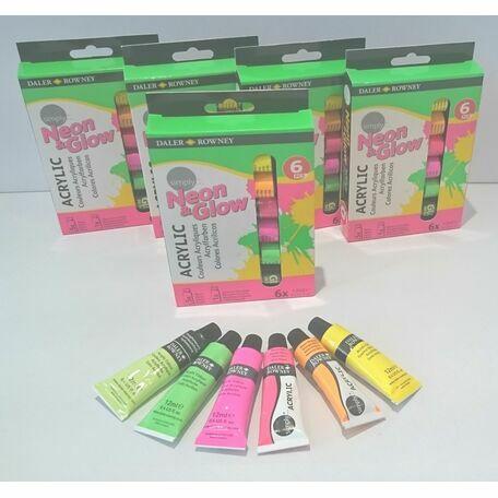 Daler Rowney Simply Neon & Glow Acrylic Paint Set