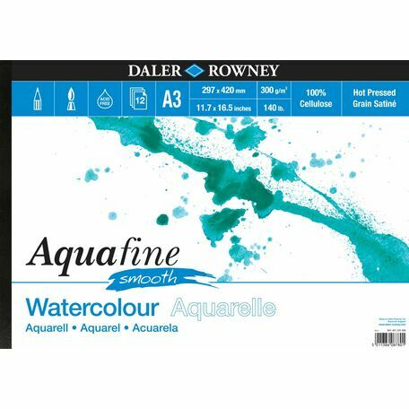 Daler Rowney Aquafine Smooth Watercolour Pad - A3