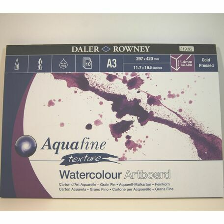Daler Rowney Aquafine Texture Watercolour Artboard (A3)