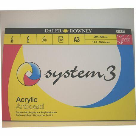 Daler Rowney System 3 Acrylic Artboard (A3)