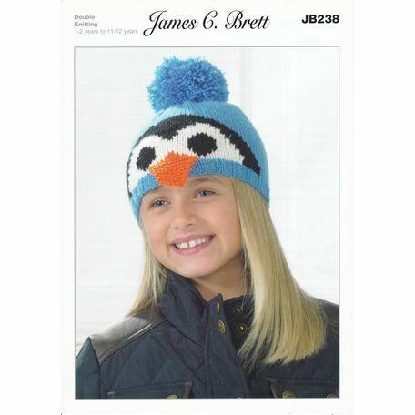 Brett Pattern Winter Penguin Hat Pattern DK JB238