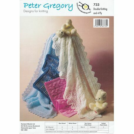 UKHKA Peter Gregory (733) - DK and 4Ply - Shawls and Pram Covers