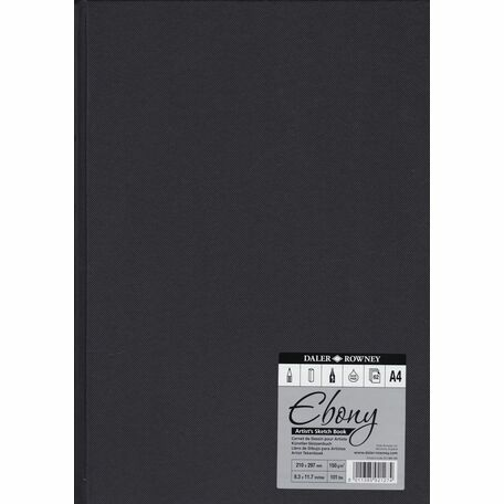 Daler Rowney: Ebony Artists Sketch Book: A4: Hardback