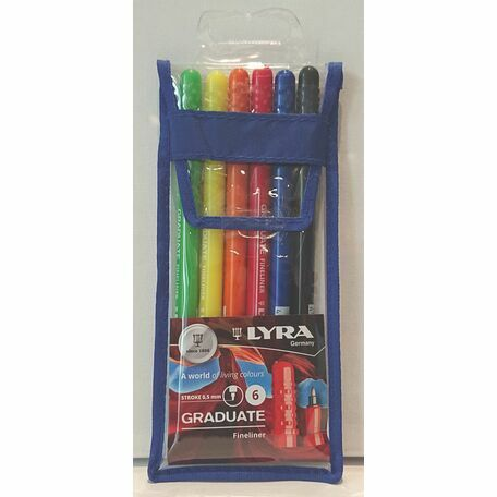 Lyra Graduate Fineliner: 6 Colours Wallet