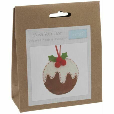 Trimits Felt Christmas Decoration Kit - Christmas Pudding