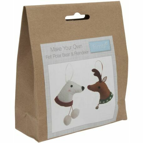 Trimits Felt Christmas Decoration Kit - Deer & Polar Bear