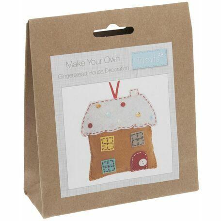 Trimits Felt Christmas Decoration Kit - Gingerbread House