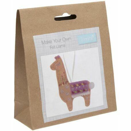 Trimits Felt Christmas Decoration Kit - Llama