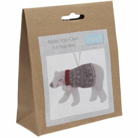 Trimits Felt Christmas Decoration Kit - Polar Bear